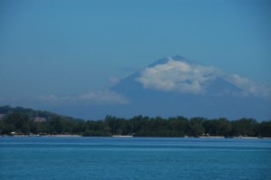 Gili Air - Distant Volcano