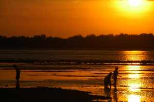 Gili Air - Children at Sunset