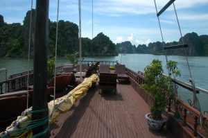 Halong Bay - Top of Junk