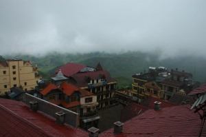 Sapa - Cloudy View from Auberge