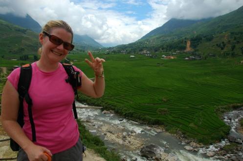 Sapa - Jen and Terraced Rice Paddies