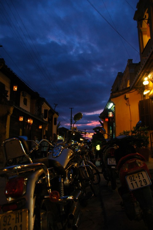 Hoi An - Motorbikes at Night
