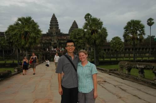 Angkor - Jen and Jeff at Angkor Wat